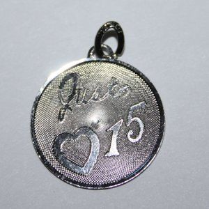 Vintage sterling silver Just 15 charm or pendant